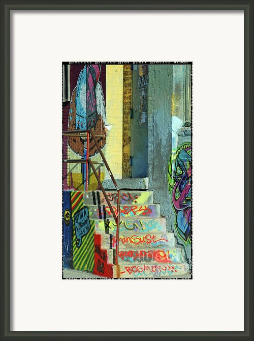 Graffiti Steps Wall Art Framed Print By Adspice Studios
