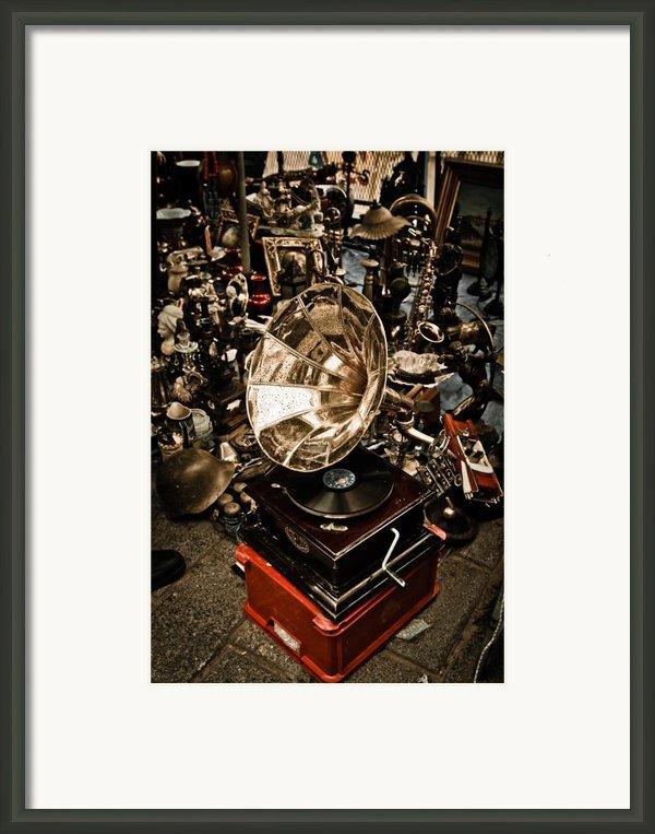 Gramophone Framed Print By Gabriela Insuratelu