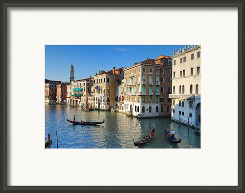 Grand Canal From Rialto Bridge, Venice Framed Print By Chris Hepburn