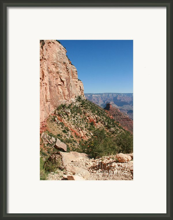 Grand Canyon National Park Bright Angel Loop Arizona Usa Framed Print By Audrey Campion