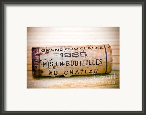 Grand Cru Classe Bordeaux Wine Cork Framed Print By Frank Tschakert