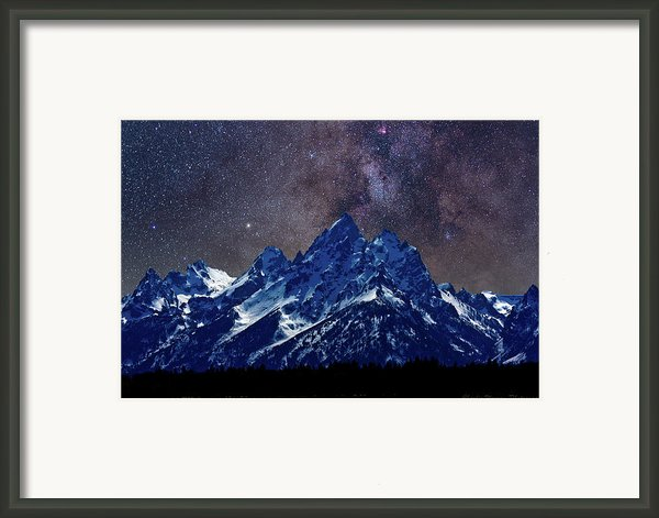 Grand Tetons Nights Framed Print By Charles Warren