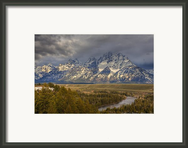 Grand Tetons Snake River Framed Print By Charles Warren