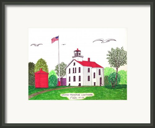 Grand Traverse Lighthouse Framed Print By Frederic Kohli