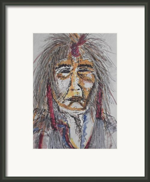 Grandfather  Spirit Framed Print By Nashoba Szabol