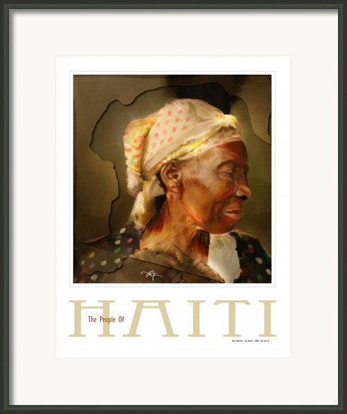 Grandma - The People Of Haiti Series Poster Framed Print By Bob Salo