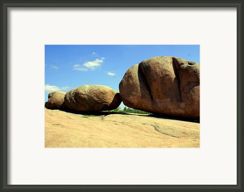 Granite Boulders 2  Framed Print By Marty Koch