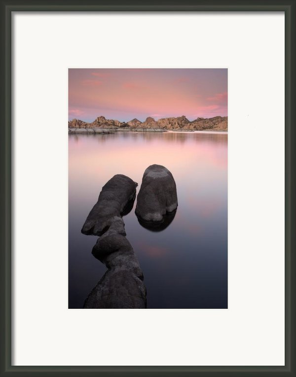 Granite Dells Twilight Framed Print By Eric Foltz