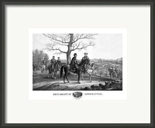 Grant And Lee At Appomattox Framed Print By War Is Hell Store