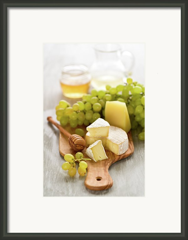 Grape, Honey And Cheese Framed Print By Verdina Anna