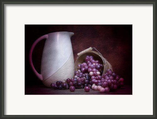 Grapes With Pitcher Still Life Framed Print By Tom Mc Nemar
