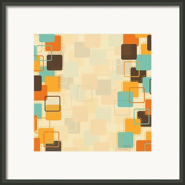 Graphic Square Pattern Framed Print By Setsiri Silapasuwanchai