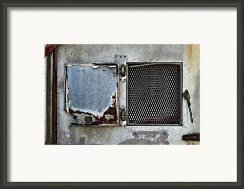 Grated Door Framed Print By Murray Bloom