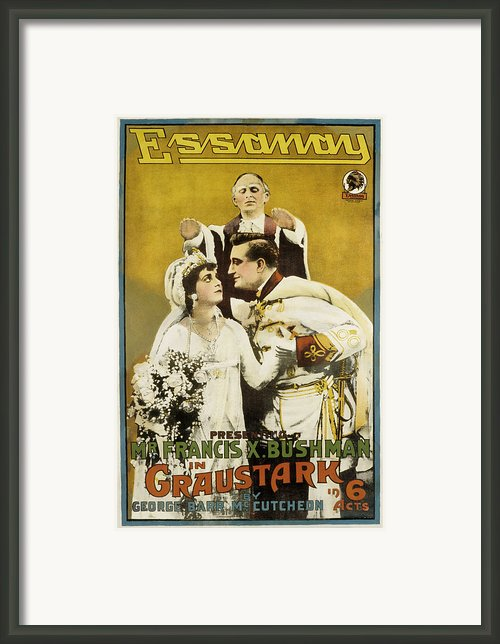 Graustark, Beverly Bayne, Francis X Framed Print By Everett