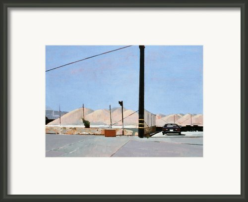 Gravel Piles Downtown La Framed Print By Peter Wilson