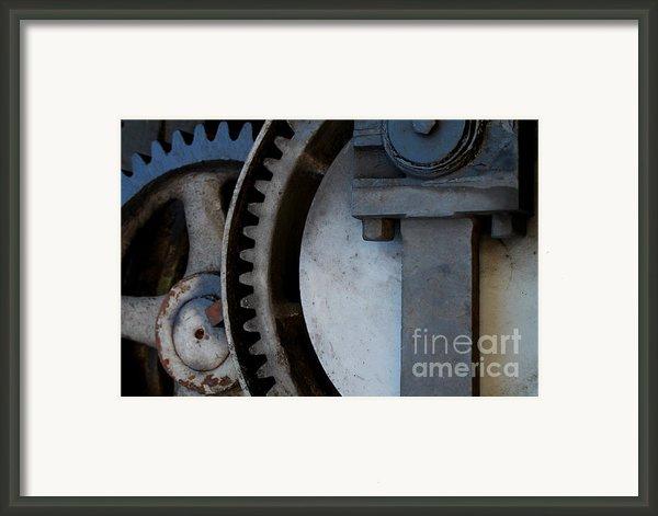 Gray Gear Framed Print By David Yankle