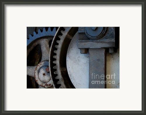 Gray Gear Framed Print By David Yankle