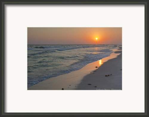Grayton Beach Sunset 5 Framed Print By Charles Warren