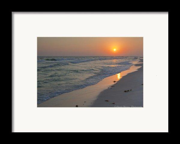 Grayton Beach Sunset 5 Framed Print By Charles Warren