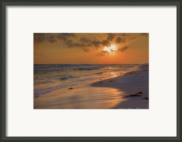 Grayton Beach Sunset 7 Framed Print By Charles Warren