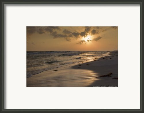 Grayton Beach Sunset Framed Print By Charles Warren