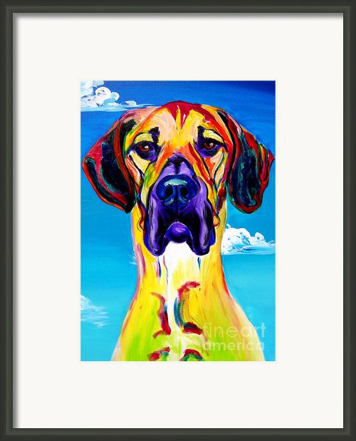 Great Dane - Philosopher Framed Print By Alicia Vannoy Call