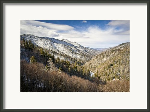 Great Smoky Mountains National Park Winter Snow Gatlinburg Tn Framed Print By Dave Allen