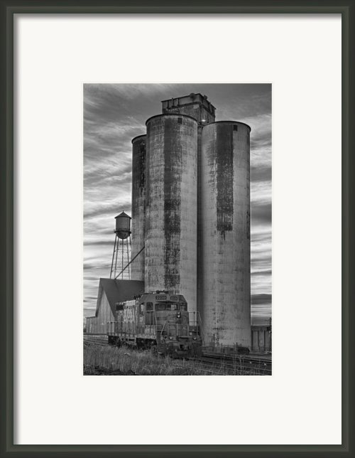 Great Western Sugar Mill Longmont Colorado Bw Framed Print By James Bo Insogna