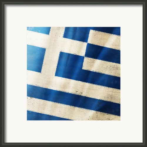 Greece Flag Framed Print By Setsiri Silapasuwanchai