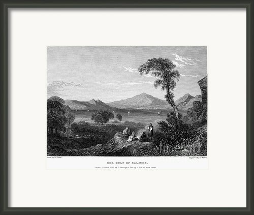 Greece: Gulf Of Salamis Framed Print By Granger