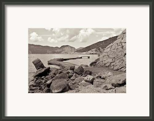 Greek Harbour Framed Print By Tom Gowanlock