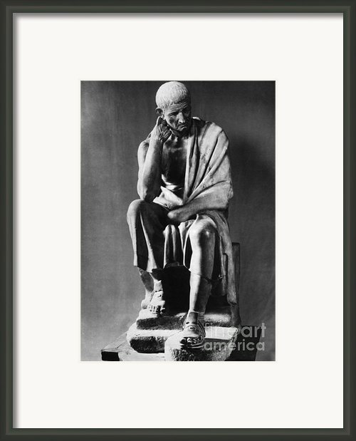 Greek Philosopher Framed Print By Photo Researchers
