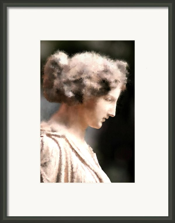 Greek Woman Framed Print By Ilias Athanasopoulos