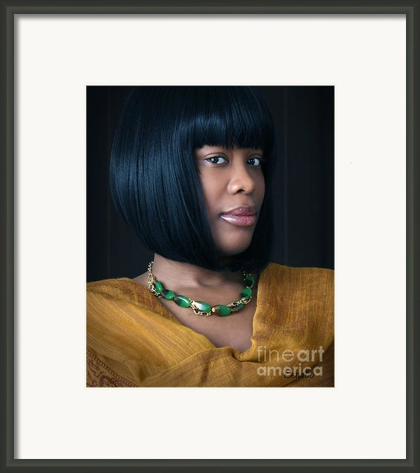 Green And Gold Framed Print By Eena Bo