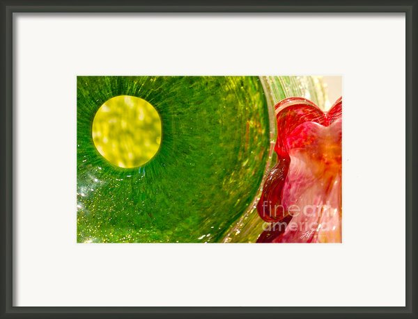 Green And Red Framed Print By Author And Photographer Laura Wrede