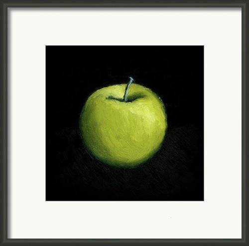 Green Apple Still Life Framed Print By Michelle Calkins