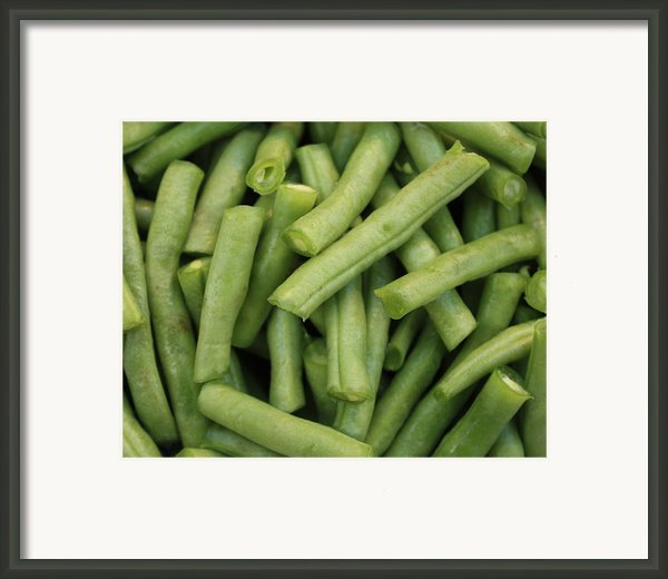 Green Beans Close-up Framed Print By Carol Groenen