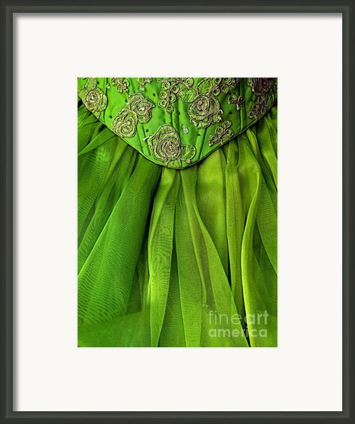 Green Frock Framed Print By Olden Mexico