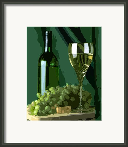 Green Is White Framed Print By Elaine Plesser