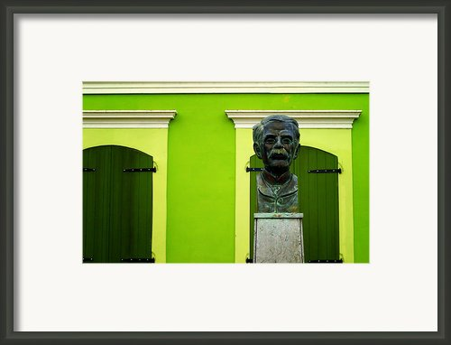 Green Framed Print By Mauricio Jimenez