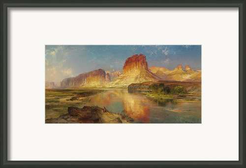 Green River Of Wyoming Framed Print By Thomas Moran
