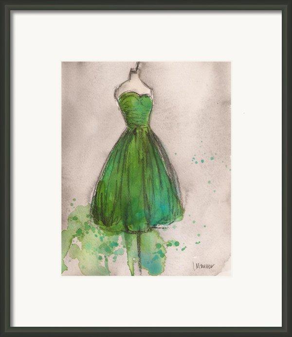 Green Strapless Dress Framed Print By Lauren Maurer