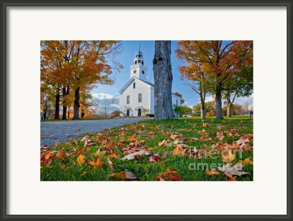 Greenfield Church Framed Print By Susan Cole Kelly