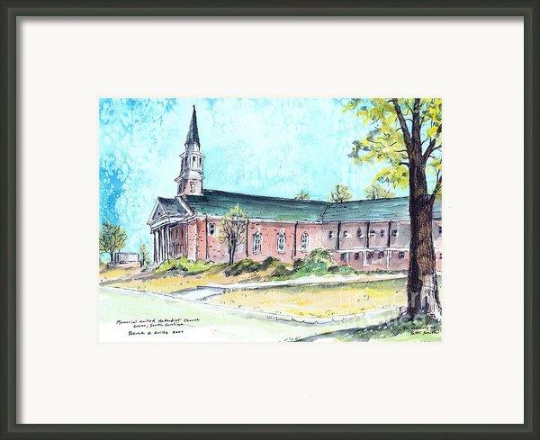 Greer United Methodist Church Framed Print By Patrick Grills