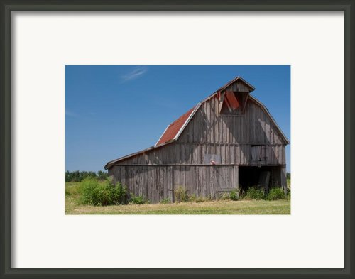 Grey Barn Framed Print By Douglas Barnett