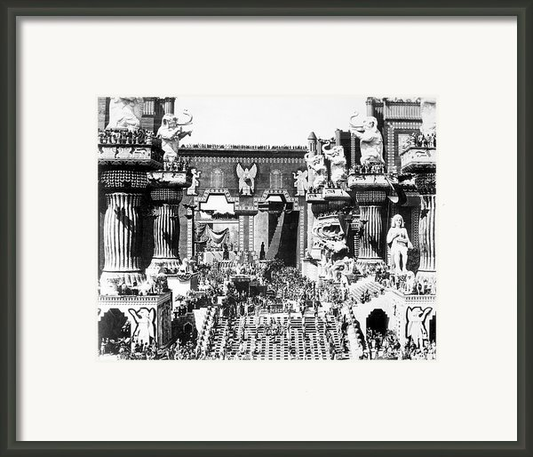 Griffith: Intolerance 1916 Framed Print By Granger