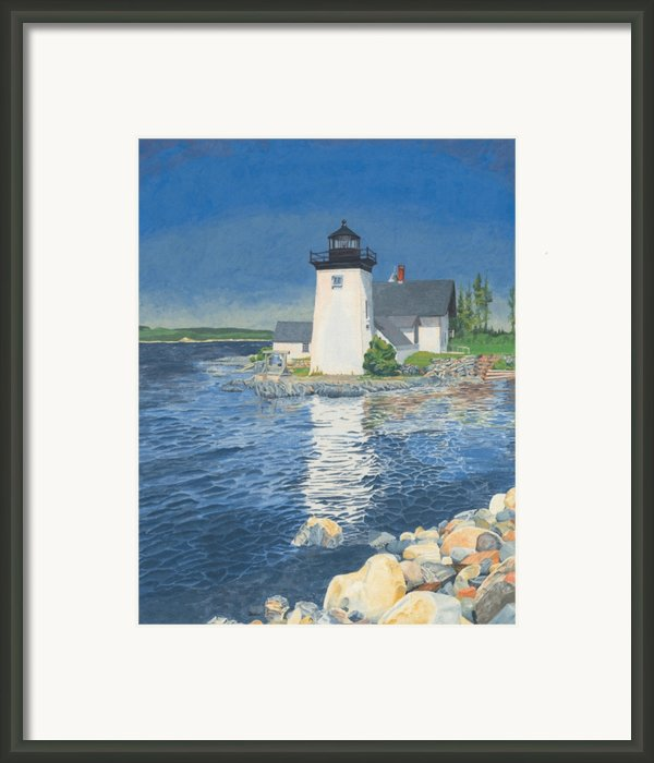 Grindle Point Light Framed Print By Dominic White