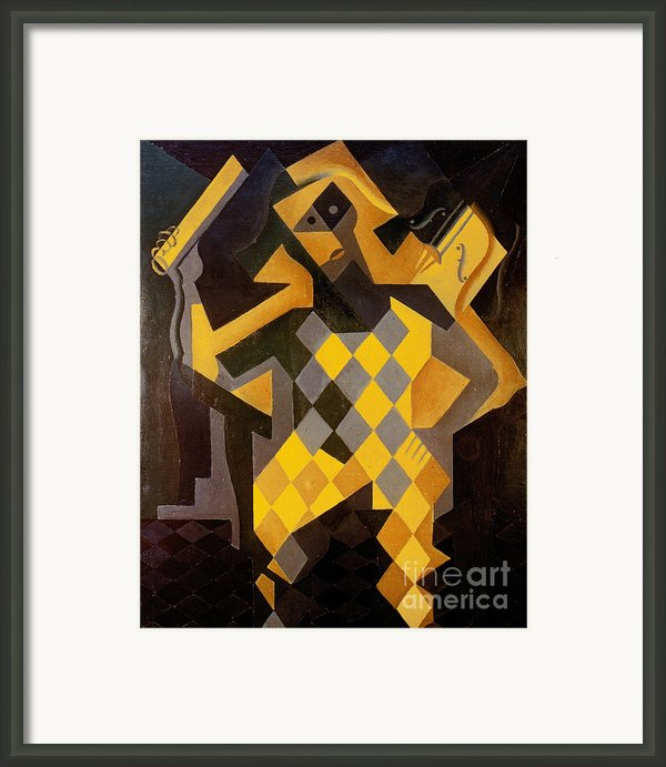 Gris: Harlequin Framed Print By Granger