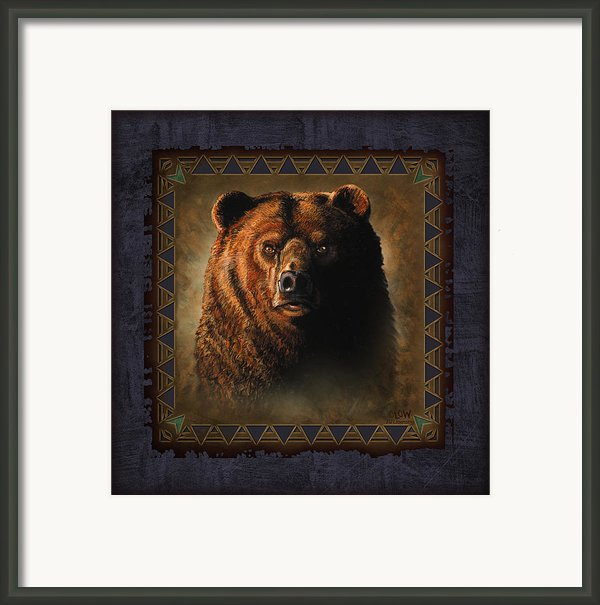 Grizzly Lodge Framed Print By Jq Licensing