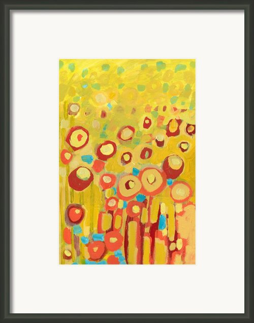 Growing In Yellow No 2 Framed Print By Jennifer Lommers